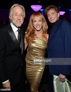 Neil Portnow, Kathy Griffin and Barry Manilow Clive Davis pre-Grammy party.