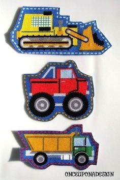 Construction Vehicles Fabric Iron On Appliques by OnceUponaDesign, $3.00