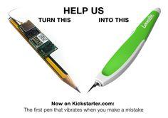 Support Lernstift on www.kickstarter.com/projects/lernstift/lernstift-the-first-pen-that-vibrates-when-u-make