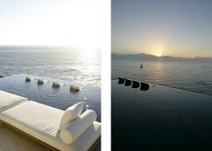 chairs in the pool. watching the sunset. amazing. (South Africa)
