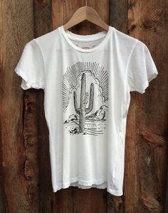 Cactus Women's Vintage Tee White/Black | Bandit Brand General Store