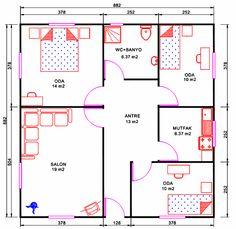 100m2 ev planları - Google'da Ara
