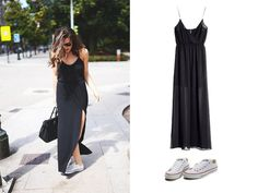 Who says you can't be sportive with a maxi dress? Sneakers can do everything! #sneakers #Converse #Maxidress