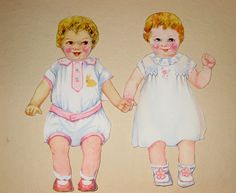 Twinnies Dressed by Pennelainer, via Flickr