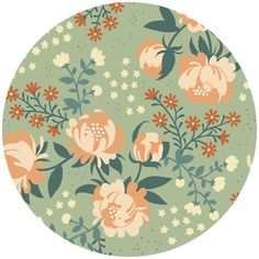 """Teagan White for Birch Organic Fabrics, Acorn Trail, VOILE, Peonies Mint   Fabric is sold by the 1/2 Yard. For example, if you would like to purchase 1 Yard, you would enter 2 in the Qty. box at Checkout. Yardage is cut in one continuous piece.  Examples:  1/2 yard = 1 1 yard = 2 1 1/2 yards = 3 2 yards = 4   1/2 Yard Measures 18"""" x 44/45""""  Fiber Content: 100% Organic Cotton Voile  Hover over image for a larger, better view."""