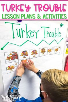 Fun and engaging lesson plans and activities for Turkey Trouble. This unit includes all of the resources needed to practice reading comprehension skills using the cute story, Turkey Trouble. Available in a digital and printable format which makes these activities great for distance learning!