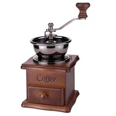 US $9.93 The body is made of Beech wood with easy to access drawer, the front drawer catches the ground coffee ready for making your own fresh blend of coffee. Specification: - Material: Beech wood base, Stainless steel. | eBay!