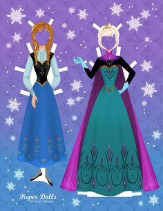 Free Frozen Paper Doll Part 2 of 8
