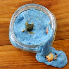 This slime for kids recipe contains simple ingredients on no Borax! Make this ocean slime for your kids this summer for hours of fun!