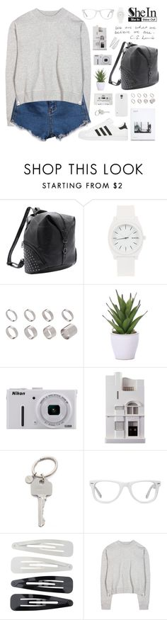 Great day | SheIn 6 by alexandra-provenzano on Polyvore featuring mode, Acne Studios, Nixon, ASOS, Muse, Forever 21, Paul Smith, Chisel & Mouse, Lux-Art Silks and Nikon