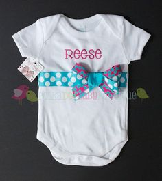 Personalized onsie for baby girl