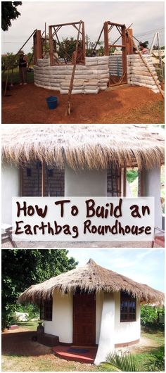 How To Build an Earthbag Roundhouse Natural Building, Green Building, Building A House, Earth Bag Homes, Earthship Home, Natural Homes, Round House, Homestead Survival, Severe Weather