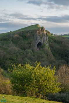 Thor's Cave, Staffordshire, England. Apparently the rent in Manhattan WAS too high...