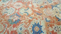 Richard Afkari Carpets & Rugs is proud to present one of today's new arrivals: a handmade, antique 19th century Ziegler carpet; Central Persia; 12' x 9'  #design #handmade #iran #orange #blue #ziegler #rug #rugart #carpet #birds #designer #art #floral #flowers #antique #persian #homedecor #inspiration #interiordesign #interiordesigner #interiordecor #decoration #decorator #nyc #rugsinnyc #pattern #beauty #woven