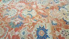 Richard Afkari Carpets & Rugs is proud to present one of today's new arrivals: a handmade, antique 19th century Ziegler carpet; Central Persia; 12' x 9'  #design #handmade #iran #orange #blue #ziegler #rug #rugart #carpet #birds #designer #art #floral #flowers #antique #persian #homedecor #inspiration #interiordesign #interiordesigner #interiordecor #decoration #decorator #nyc #rugsinnyc #pattern #beauty #woven