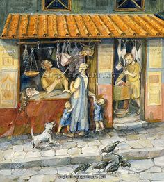 """""""At the butcher shop"""" by Judith Dobie"""