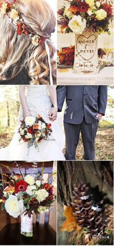 beautiful fall wedding. I would like the carved tree wood for my top table- a lovely keepsake for afterwards as well!