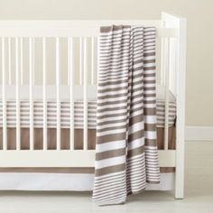 In the Mix Crib Bedding (Khaki)  | Crate and Barrel, $29 - $49