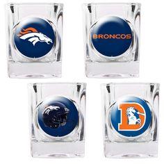 Denver Broncos Collector's Shot Glass Set