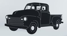 Classic Truck Silhouette Steel Sign