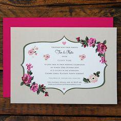 www.ditsychic.com - Fancy Florals Wedding Invitations