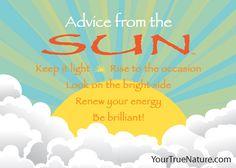 Advice from the Sun Jumbo Magnet