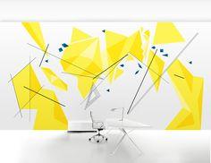 office, painting, minimalism, draft, drawing, yellow, geometry, simple, design, interior, lines, soma, decor, somadecor, роспись, эскиз, стена, интерьер, wall, минимализм, геометрия