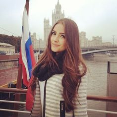 Miss Universe Olivia Culpo is getting ready to film on Moscow River.