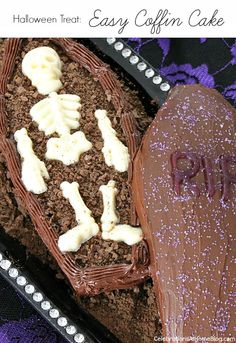 Visit CAH to find out how to make this Halloween Coffin Cake.