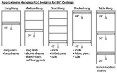 Closet Rod Height For Double Hanging Amazing Exquisite by no means go out of types. Closet Rod Height For Double Hanging Amaz Bedroom Closet Design, Master Bedroom Closet, Closet Designs, Master Bedrooms, Girls Bedroom, Master Suite, Closet Storage, Closet Organization, Organization Ideas