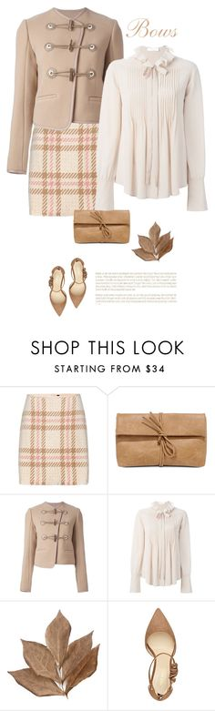 """""""Bows"""" by terry-tlc ❤ liked on Polyvore featuring MARC CAIN, LULUS, Carven, Chloé, Bliss Studio, Nine West, contest, bows, neutrals and polyvoreeditorial"""