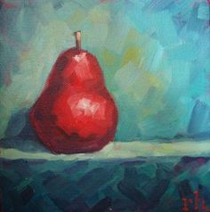 Solo - 6x6inch original oil daily still life painting by Rob Hazzard #OilPaintingFood #OilPaintingStillLife