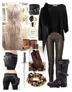 """Thorin Inspired"" by littlemissrocker1998 ❤ liked on Polyvore featuring Neil Barrett, Diane Von Furstenberg, Ann Demeulemeester, River Island, Forever 21, Vanessa Mooney, Arquiste Parfumeur and Mulberry"