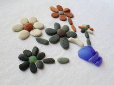Petits galets et poteries lissés par l'océan bouquet par BIRBILI3