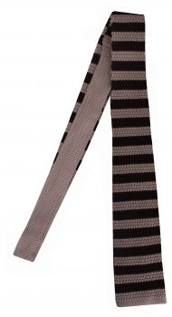 RAKE - Knit Tie in Brown Stripe  #GIFTSUNDER£80 #MEN #CHRISTMAS