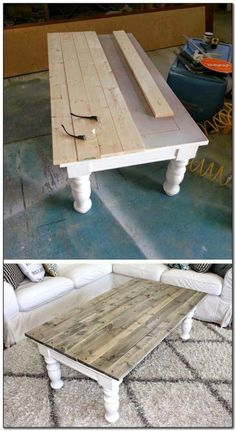 25 Most Creative DIY Furniture Refinements - Farmhouse Coffee Table Makeover # Furniture # ., 25 Most Creative DIY Furniture Refinements - Farmhouse Coffee Table Makeover # Furniture - Coffee Table Makeover, Diy Coffee Table, Kitchen Table Makeover, Coffee Table Painted, Coffee Table Refinish, Pallette Coffee Table, Ideas For Coffee Tables, Farm House Coffee Table Diy, Coffee Table Upcycle Ideas
