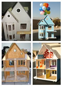 This was the inspiration for the dollhouse we refurbished for our girls.