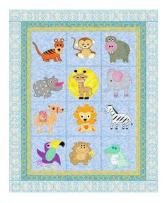 Hey, I found this really awesome Etsy listing at https://www.etsy.com/listing/165356569/baby-quilt-pattern-animals-safari-pets