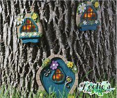 Add this adorable fairy garden blue guardians windows and door to your garden today! www.teelieturner.com #fairygarden