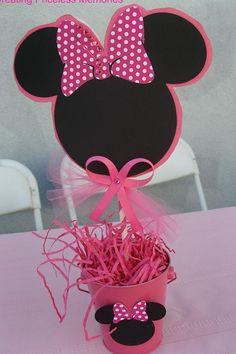 Ratón de Minnie centro de mesa por InsanelyCreative3812 en Etsy
