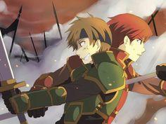 Sain and Kent from Fire Emblem Fire Emblem Lyn, Bravely Default, Fire Emblem Awakening, Manga Comics, Fes, Best Games, I Fall In Love, Animation, Fan Art