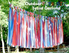 Outdoor Patriotic Tassel Garland