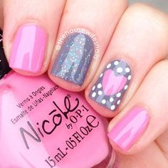 Try some of these designs and give your nails a quick makeover, gallery of unique nail art designs for any season. The best images and creative ideas for your nails. Valentine's Day Nail Designs, Simple Nail Designs, Nails Design, Pedicure Designs, Nail Designs For Kids, Heart Nail Designs, Fingernail Designs, Pedicure Ideas, Salon Design
