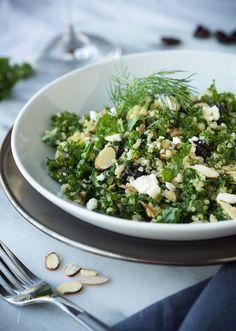 Salade de kale, amandes et ricotta