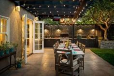 34 Samples of Modern Houses Most Popular Exterior Design - Exterior Renovation Ideas That Are Right For Your Home Patio Dining, Outdoor Dining, Outdoor Decor, Rustic Outdoor, Dining Area, Diy Patio, Backyard Patio, Patio Ideas, Pergola Ideas