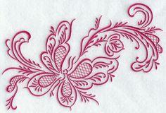 rosemaling | ... Designs at Embroidery Library! - Simply Rosemaling Sommerfugl 3