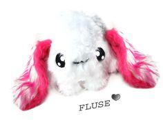 Big Fluse Kawaii Plush Rabbit Stuffed Animal  Pink von Fluse123