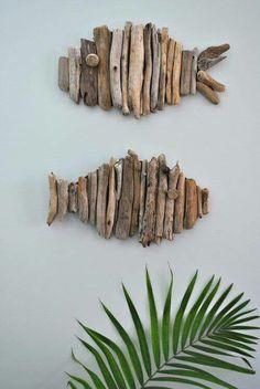 Twig fish decorations #dyi #fish