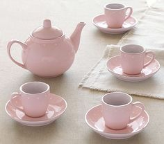 Porcelain Tea Set #pbkids.... I cannot wait to have tea parties with my little girl!