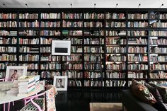 Hanya Yanagihara's home library